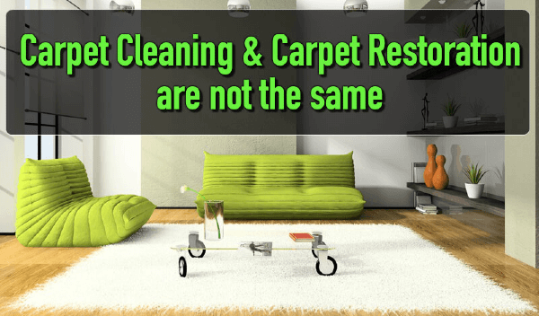 Carpet Cleaning & Carpet Restoration are Not the Same in Peoria IL & Bloomington IL
